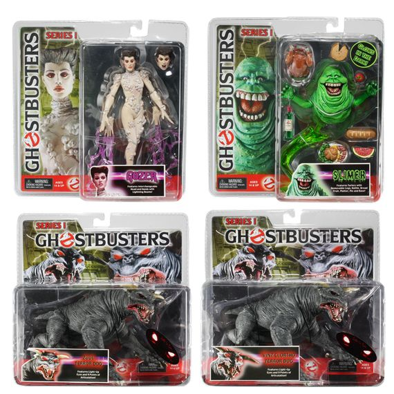 Ghostbusters action figures giveaway by Movie Gallery
